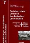 Drei Jahrzehnte Umbruch der deutschen Universitäten : Strobel, Karl