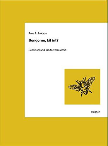 9783895005343: Bongornu, Kif Int?: Einfuhrung in Die Maltesische Sprache. Schlussel Und Worterverzeichnis