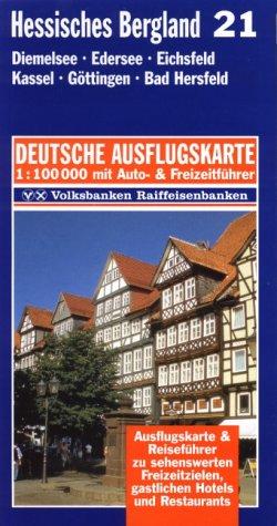 9783895132216: Hessisches Bergland 1 : 100 000. Deutsche Ausflugskarte. Blatt 21