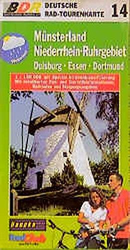 9783895132643: Deutsche Radtourenkarte 14. Münsterland, Niederrhein, Ruhrgebiet 1 : 100 000.