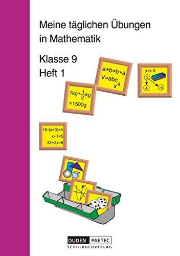 9783895171161: Meine täglichen Übungen in Mathematik Klasse 9 Heft 1