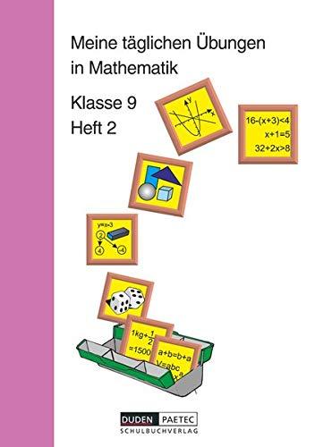 9783895171185: Meine taglichen Ubungen in Mathematik, Klasse 9