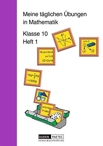 9783895171208: Meine täglichen Übungen in Mathematik Klasse 10 Heft 1