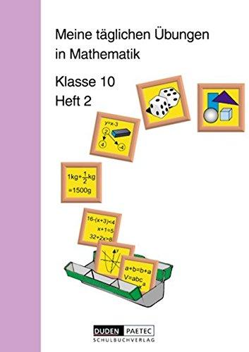 9783895171222: Meine täglichen Übungen in Mathematik Klasse 10 Heft 2