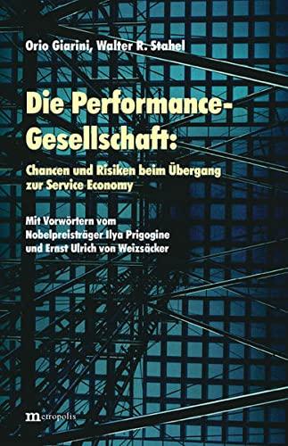 9783895183201: Die Performance-Gesellschaft: Chancen und Risiken beim Übergang zur Service Economy
