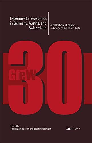 9783895187131: Experimental Economics in Germany, Austria, and Switzerland