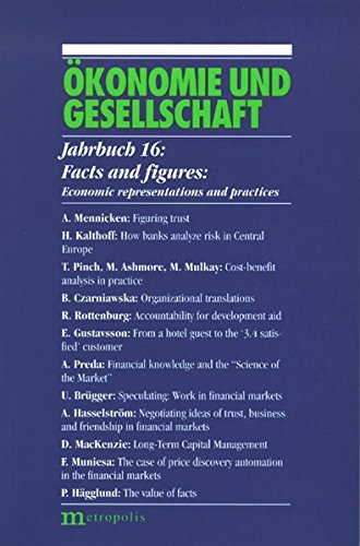 9783895189968: Facts and figures – Economic representations and practices