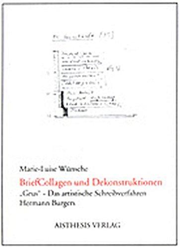 BriefCollagen und Dekonstruktion: Marie L W�nsche