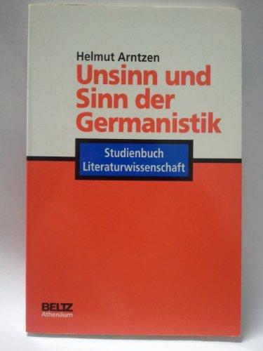 9783895470974: Unsinn und Sinn der Germanistik