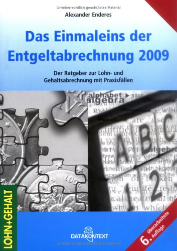 9783895775420: Einmaleins der Entgeltabrechnung 2009