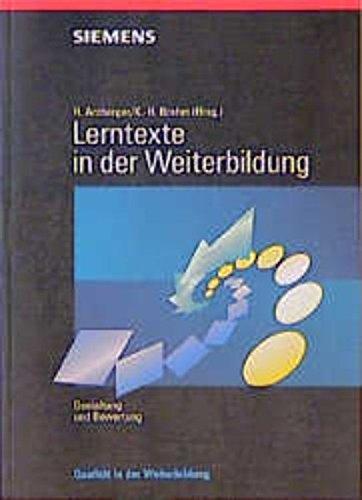 9783895780219: Lerntexte in Der Weiterbildung Gestaltung Und Bewertung