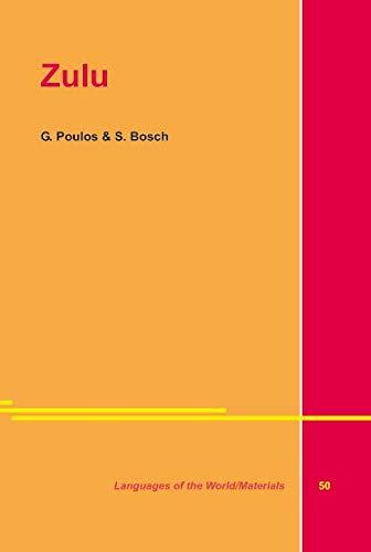 Zulu: Bosch, S.; Poulos, G.