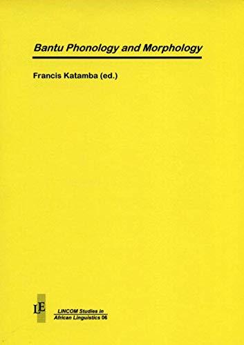 9783895860331: Bantu Phonology and Morphology