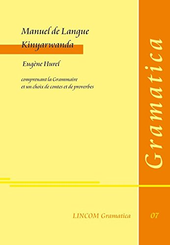 9783895860690: Manuel de Langue Kinyarwanda