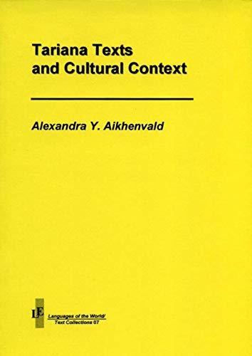 Tariana Texts: Aikhenvald, Alexandra