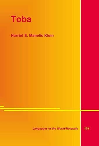 Toba: Klein, Harriet E. Manelis
