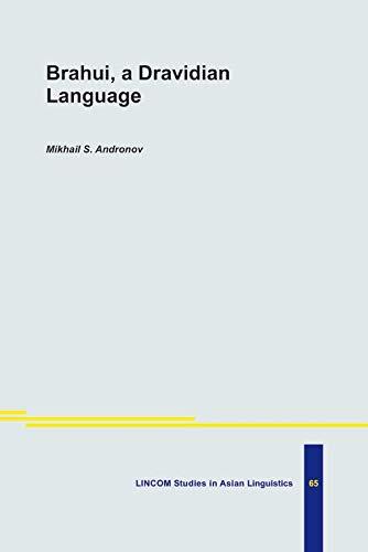 9783895863486: Brahui, a Dravidian Language