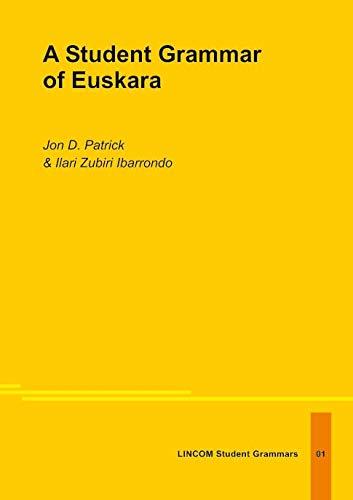 9783895864445: A Student Grammar of Euskara