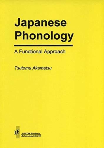 9783895865442: Japanese Phonology