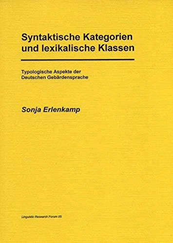 9783895866647: Syntaktische Kategorien und lexikalische Klassen