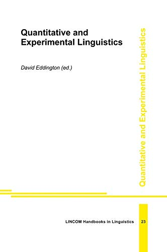 9783895867378: Quantative and Experimental Linguistics