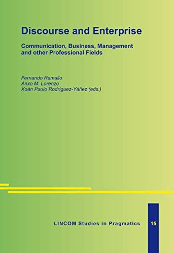 9783895868788: Discourse and Enterprise. Communication, Business, Management and other Professional Fields