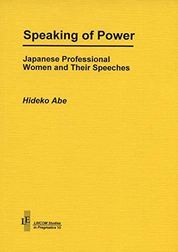Speaking of power: Abe, Hideko