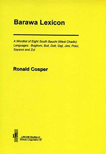 Barawa Lexicon: Cosper, Ronald