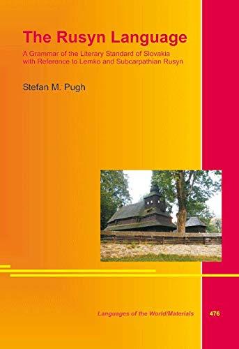 9783895869402: The Rusyn Language