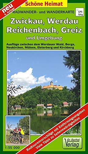 9783895910647: Radwander- und Wanderkarte Wälder um Zwickau, Werdau und Greiz und Umgebung 1 : 35 000: Ausflüge zwischen Berga an der Elster, Neukirchen, Mülsen, Elsterberg, Reichenbach i.V. und Kirchberg