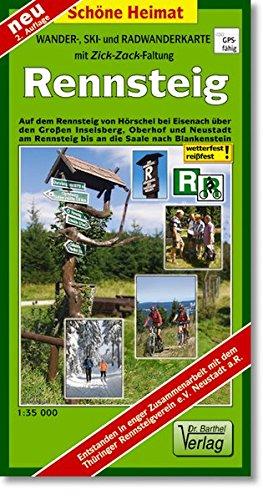 9783895911156: Rennsteig : Wander-, Ski- und Radwanderkarte mit Zick-Zack-Faltung
