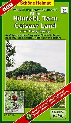 Rhön, Hünfeld, Tann, Geisaer Land und Umgebung 1 : 35 000 Radwander- und Wanderkarte: ...