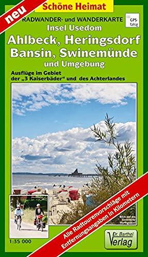 9783895911781: Insel Usedom, Ahlbeck, Heringsdorf, Bansin, Swinemünde und Umgebung 1 : 35 000 Radwander- und Wanderkarte: Ausflüge im Gebiet der »3 Kaiserbäder« und des Achterlandes
