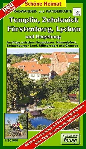 9783895912214: Fürstenberg, Lychen, Templin, Zehdenick und Umgebung Radwander- und Wanderkarte 1 : 50 000