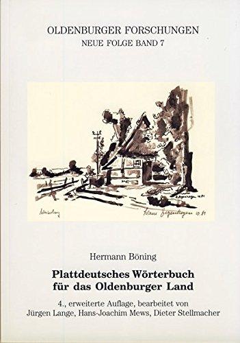 9783895985317: Plattdeutsches Wörterbuch für das Oldenburger Land (Oldenburger Forschungen) (German Edition)