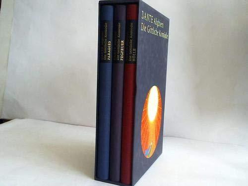 Konvolut drei Bücher: Die Göttliche Komödie,Ausgabe in drei Bänden. Hölle ...