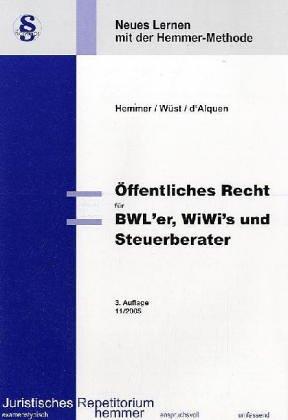 9783896346025: Öffentliches Recht für BWL'er, WiWi's und Steuerberater