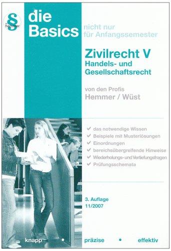9783896347701: Basics Zivilrecht 5. Handels- und Gesellschaftsrec