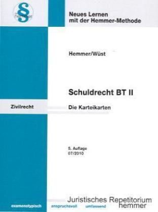 9783896349941: Schuldrecht BT 2. 106 Karteikarten: Schenkung, Miete, Leasing, Dienstvertrag, Bürgschaft, GoA u.a