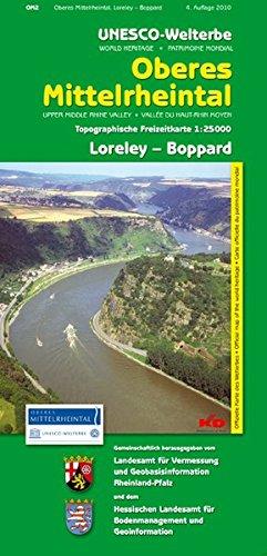 9783896373649: Unesco-Welterbe Oberes Mittelrheintal 2. Loreley - Boppard. 1 : 25 000. Topographische Freizeitkarte
