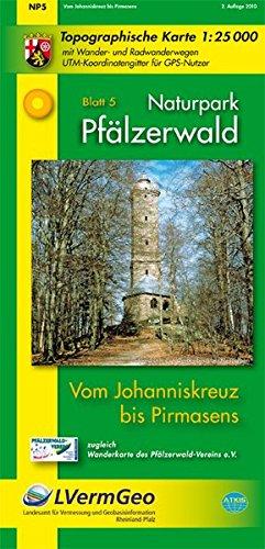 Naturpark Pfälzerwald /Vom Johanniskreuz bis Pirmasens: Naturparkkarte 1:25 000 mit Wander- und Radwanderwegen (Freizeitkarten Rheinland-Pfalz 1:15000 /1:25000) - Landesamt für Vermessung und Geobasisinformation Rheinland-Pfalz