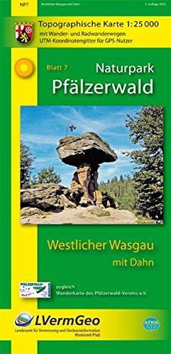 Naturpark Pfälzerwald Blatt 7 Westlicher Wasgau mit Dahn 1 : 25 000: Topographische Karte mit ...