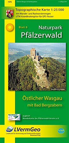 Naturpark Pfälzerwald /Östlicher Wasgau mit Bad Bergzabern (WR): Naturparkkarte 1:25000 mit Wander- und Radwanderwegen (Freizeitkarten Rheinland-Pfalz 1:15000 /1:25000) - Landesamt für Vermessung und Geobasisinformation Rheinland-Pfalz