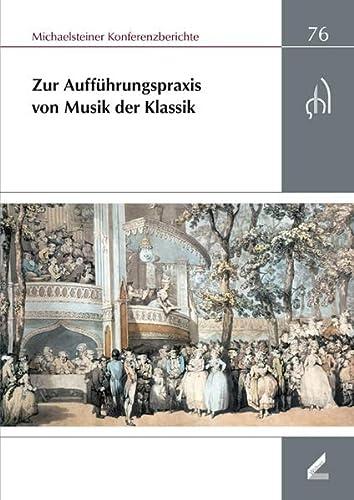 Aufführungspraxis der Musik der Klassik: Wissner-Verlag