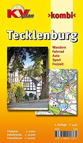 9783896411761: Tecklenburg: Mit den Ortsteilen Brochterbeck, Ledde und Ledden mit Rad- und Wanderwegen. Ortspl�ne 1 : 5 000, Freizeitkarte 1 : 12 500