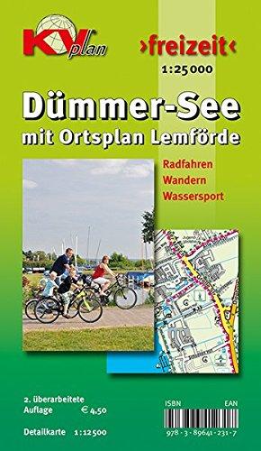 9783896412317: Dümmer See mit Ortsplan Lemförde 1 : 25 000: Fahrrad - Segeln - Wandern - Auto. Amts- und Freitzeitkarte incl. Rad- und Wanderwegen. Mit Detailkarte 1 : 12 5000