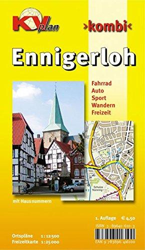 9783896416100: Ennigerloh: Ortspläne 1 : 12 500, Freizeitkarte 1 : 25 000. Fahrrad, Auto, Sport, Wandern, Freizeit