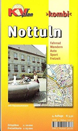 9783896416186: Kombi Nottuln, Ortspl?ne 1 : 10 000, Freizeitkarte 1 : 25 0000: Fahrrad, Wandern, Auto, Sport, Freizeit. Mit Hausnummern