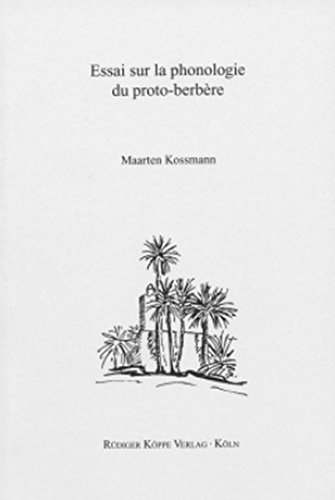 9783896450357: Essai Sur La Phonologie Du Proto-berbere (Grammatical Analyses of African Languages) (French Edition)