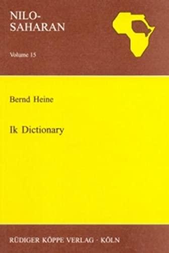 Ik Dictionary: Heine, Bernd